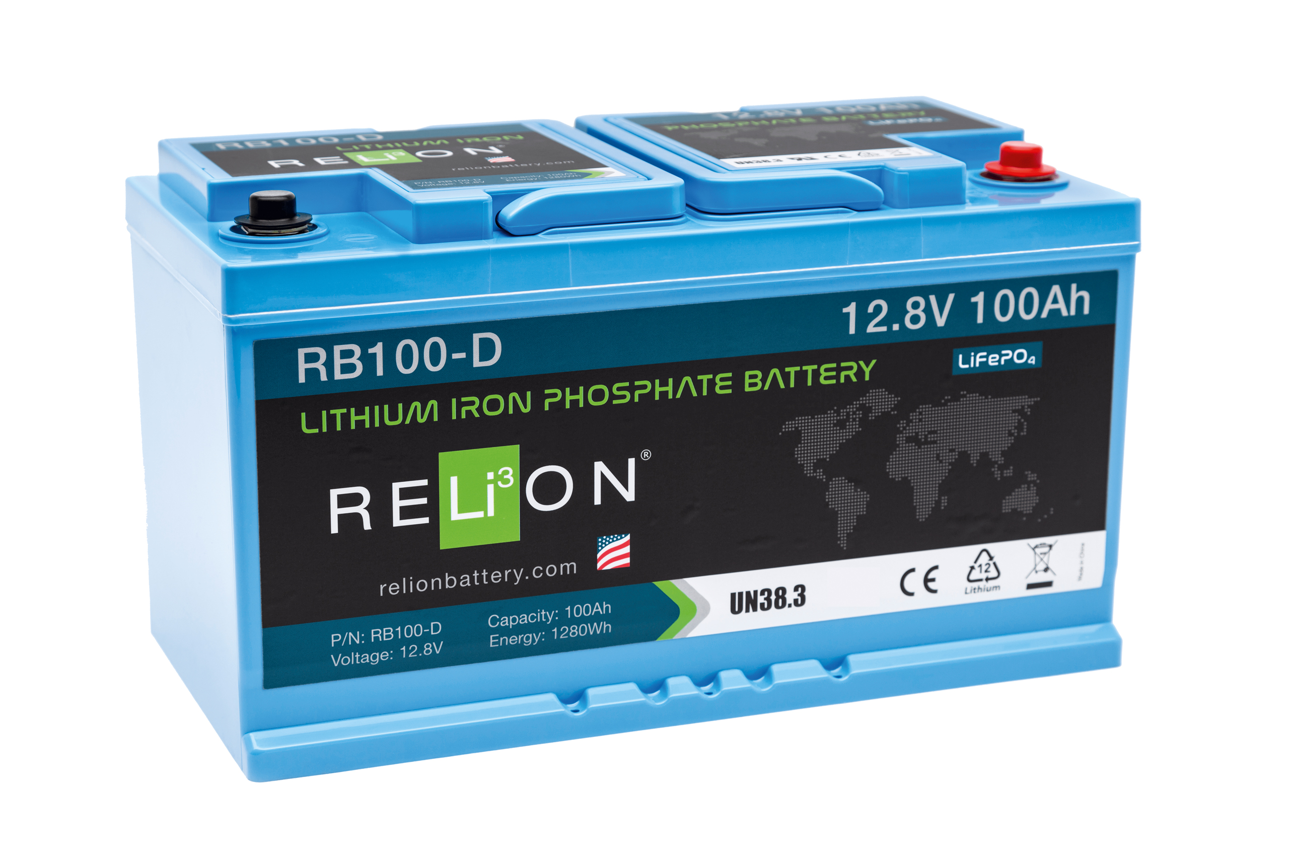 RELION Lithium-Batterie RB 100-D