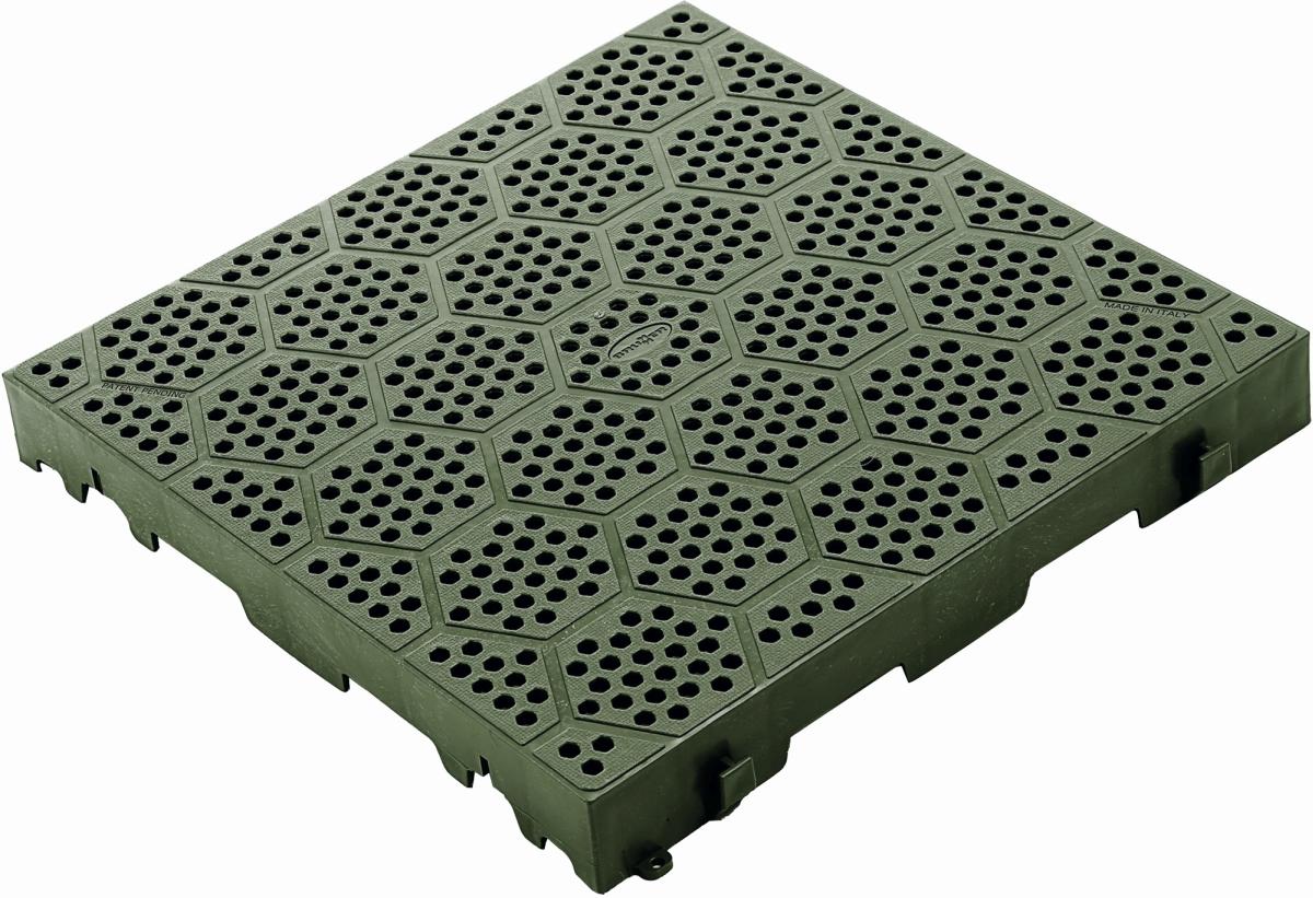 Kunststoff-Rost DECK-FIT 38,5x38,5 cm grün