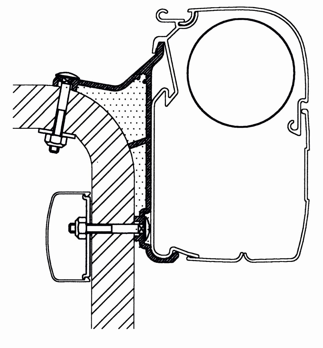 Thule Omnistor Hymer B2 Klasse Serie 5 Adapter 350 cm