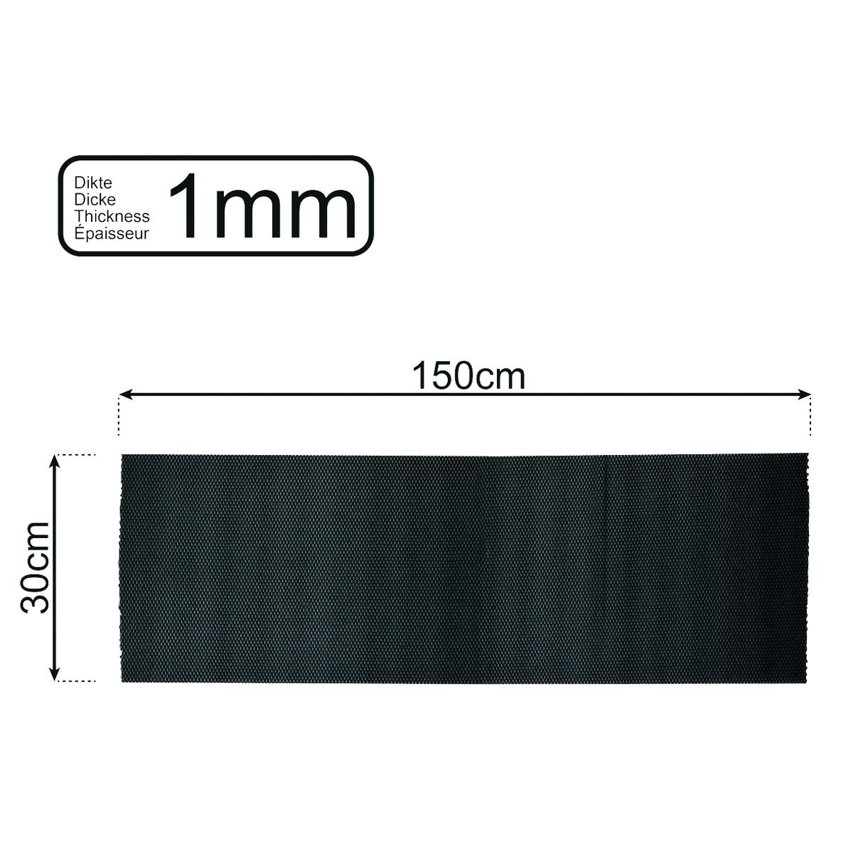 Anti-Rutschmatte schwarz 150x30 cm 1mm