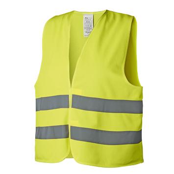 Warnweste nach DIN-Norm EN ISO 20471 gelb
