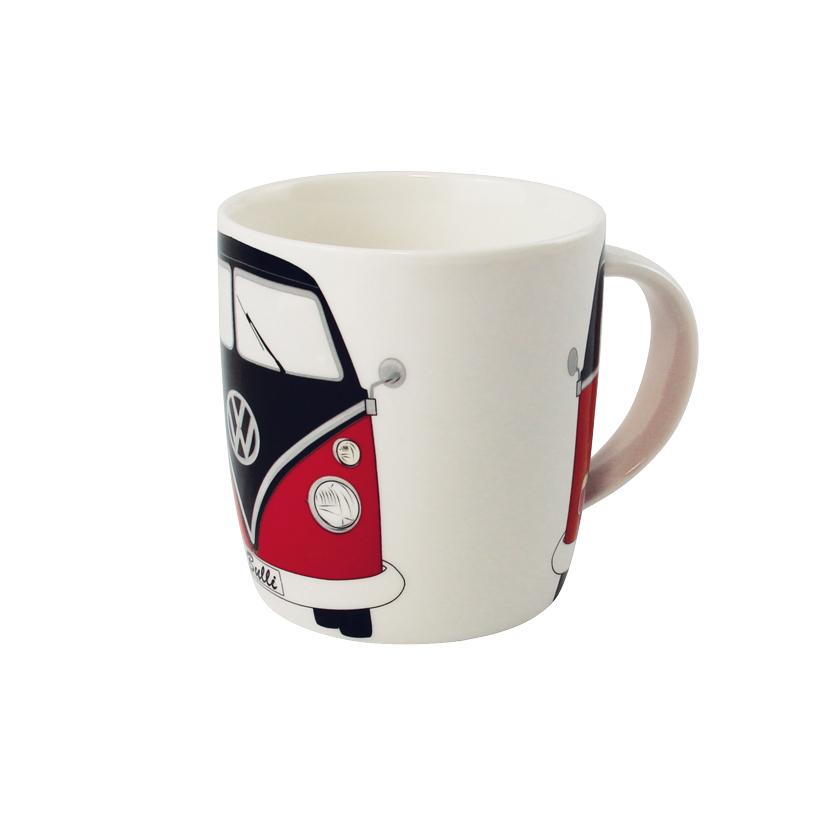 VW Collection Kaffeetasse rot-schwarz