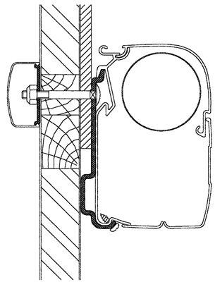 Thule Omnistor Challenger Eden, Chausson Allegro Adapter