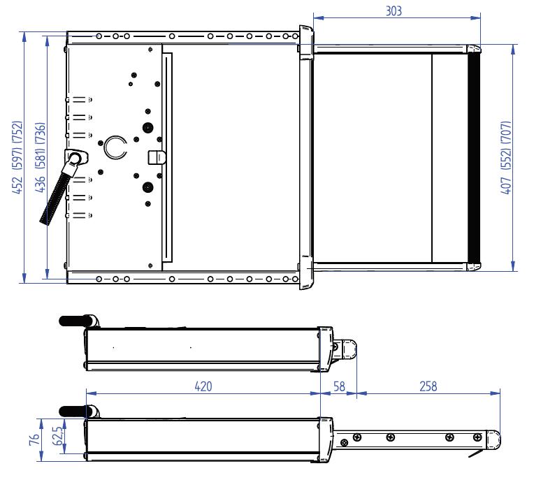 THULE Slide-Out Step V18 12V - 700