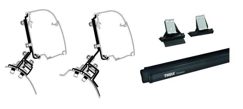 Thule Omnistor 4900 260 cm inkl. PSA Minivan Adapter