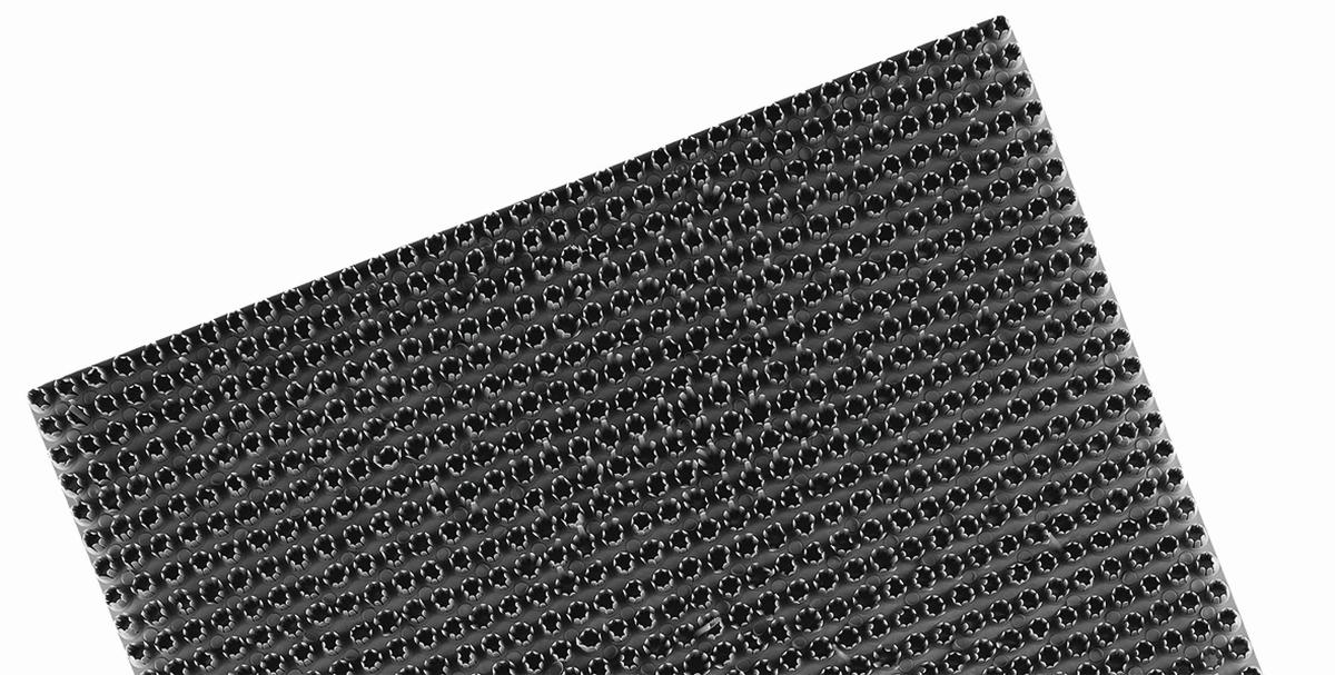 Kunstrasen-Platte 40 x 60 cm grau